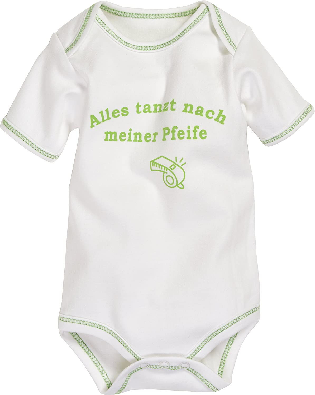 Schnizler Unisex Baby Body Kurzarm, Alles Tanzt Nach Meiner Pfeife, Oeko-tex Standard 100 Playshoes GmbH 808002