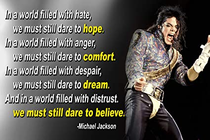 7b953189 Michael Jackson Poster Quote Black History Month Classroom Décor MJ King of  Pop Quotes Wall Art
