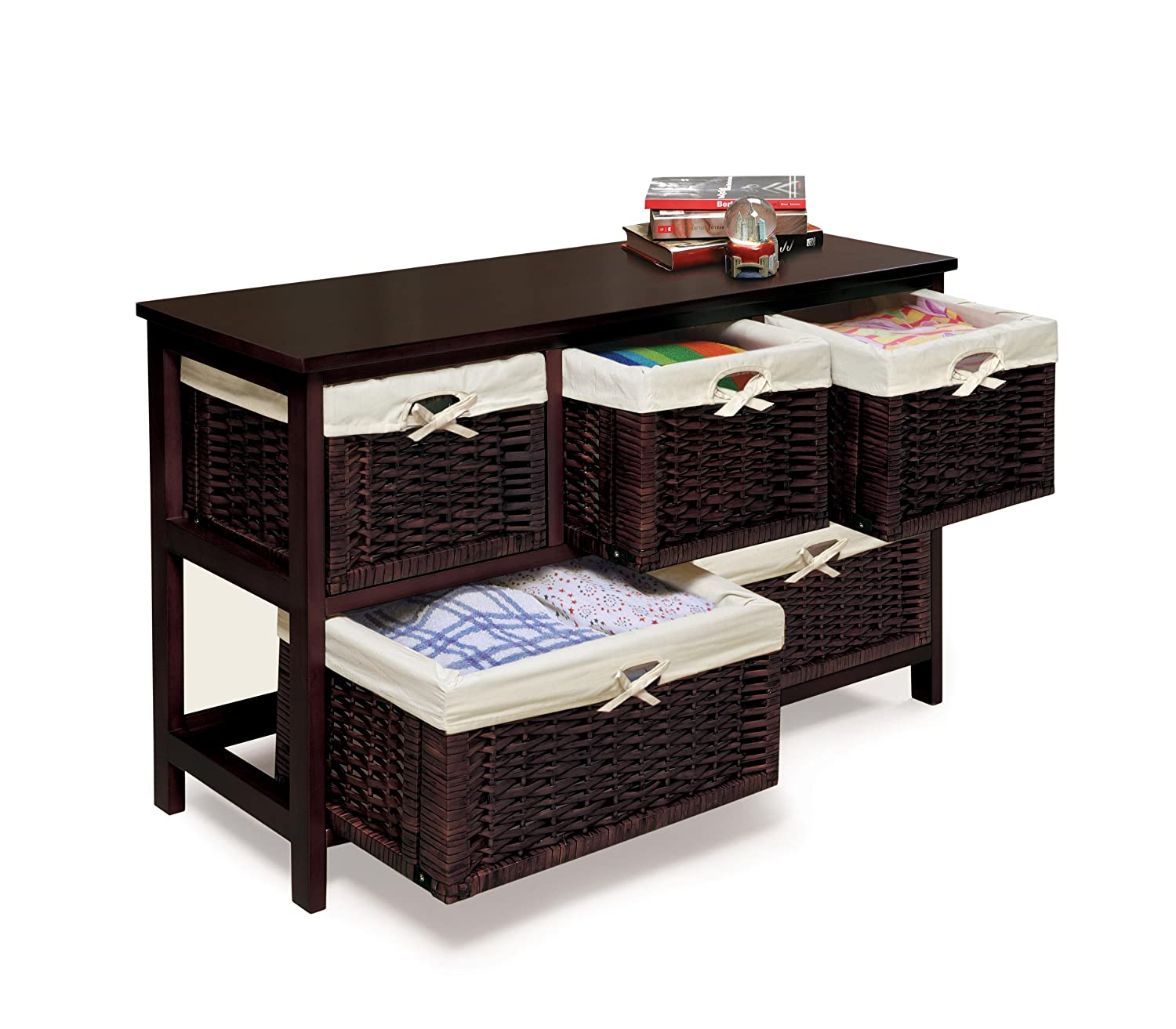 with changing changer unit wicker dresser p mamas tables and storage baskets portia papas