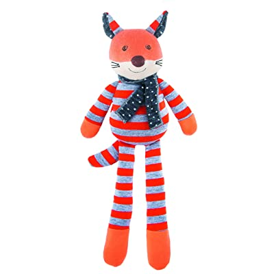 Apple Park Organic Farm Buddies - Frenchy Fox Plush Baby Toy for Newborns, Infants, Toddlers - Hypoallergenic, 100% Organic Cotton: Baby
