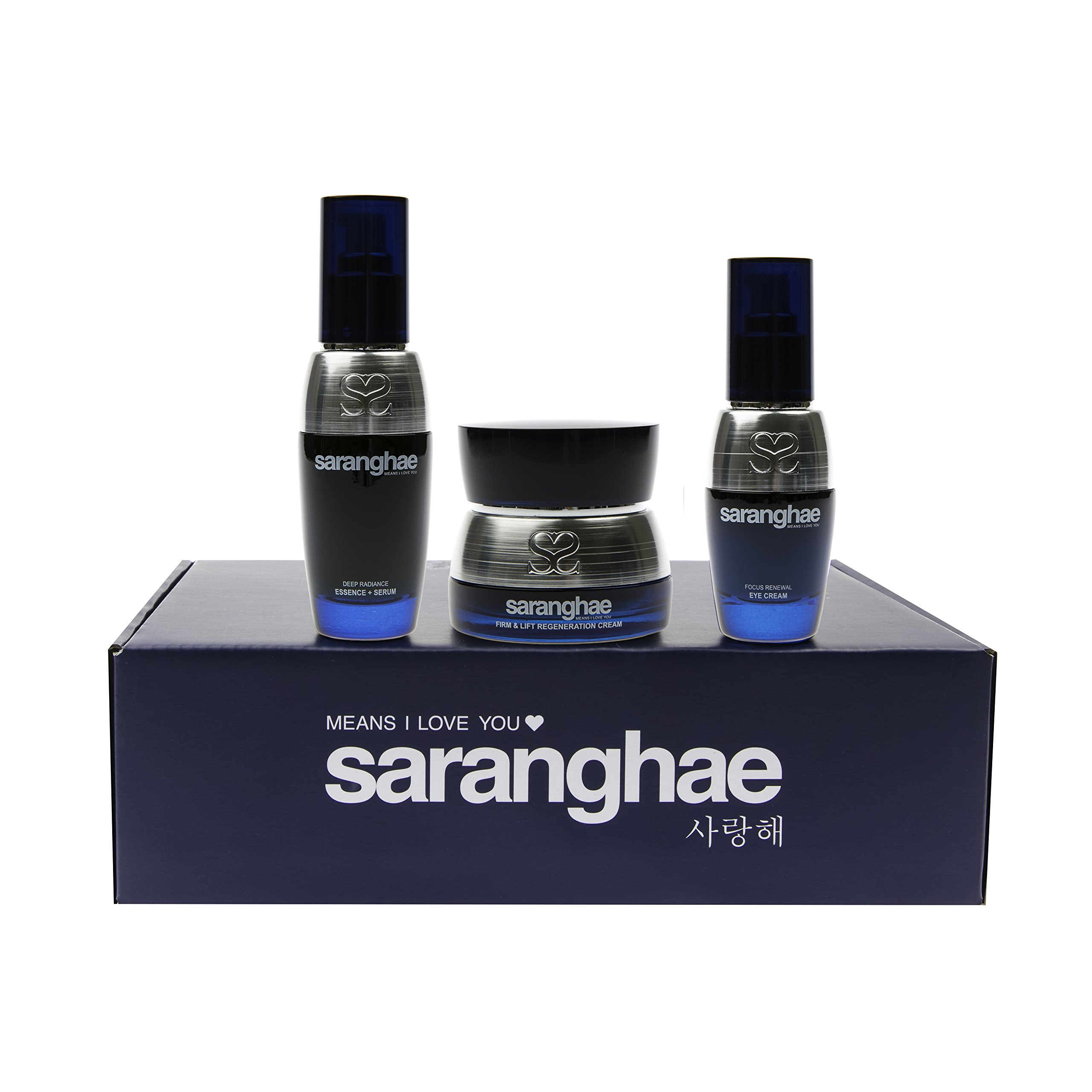 Saranghae Luna Bundle: Deep Radiance Essence + Serum, Firm and Lift Regeneration Cream, Focus Renewal Eye Cream - An Intense Focus On Healing And Repairing