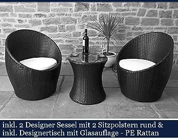 Amazon.de: HG Polyrattan Gartenmöbel Set Poly Rattan Garten Möbel ...