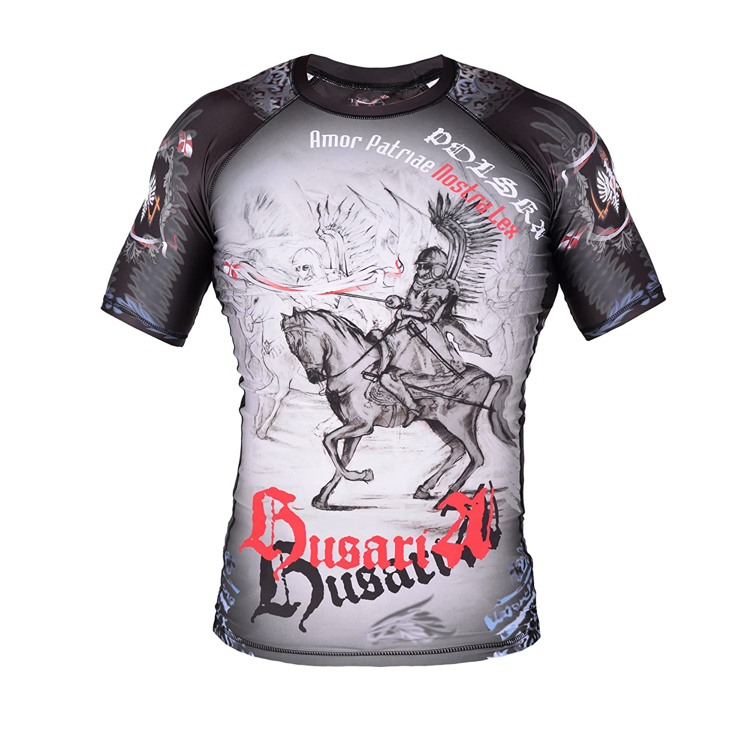 Image of Street Fighter Short Sleeve Rash Guard POLISH HUSSARS