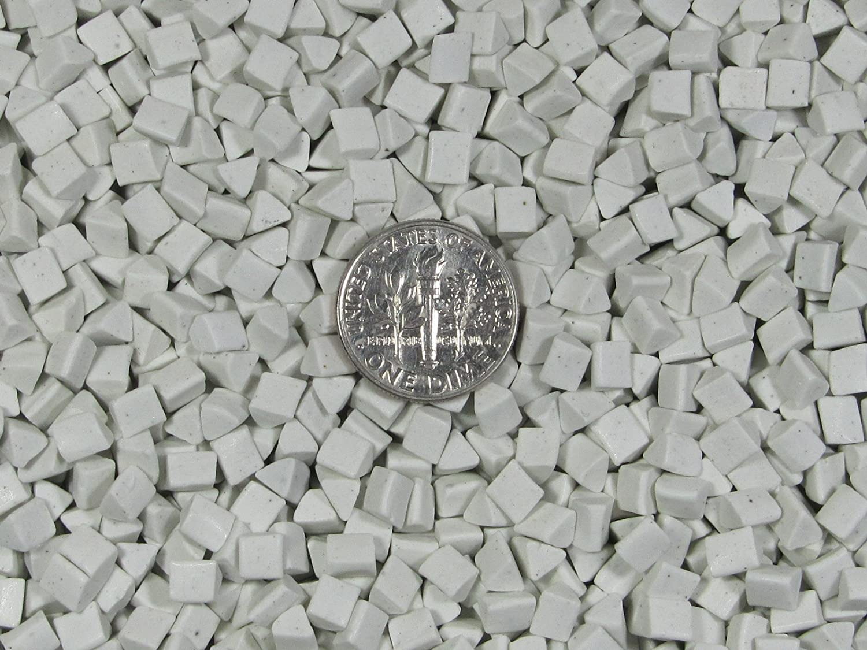 6 mm X 6 mm Polishing Triangles Non-Abrasive Ceramic Tumbling Tumbler Tumble Media 5 Lb