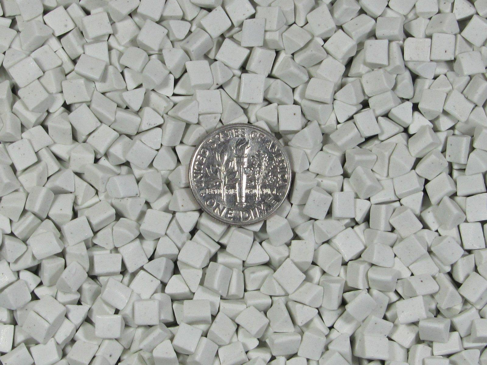 Ceramic Porcelain Tumbling Media 8 Lbs. 4 mm X 4 mm Polishing Triangles (White)