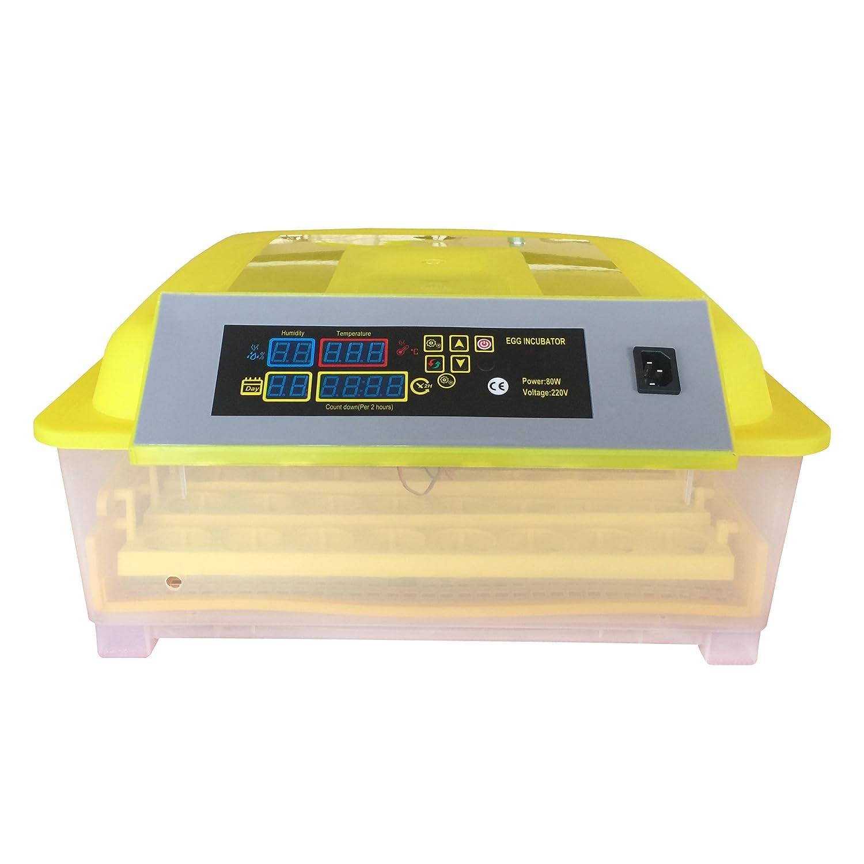 HopeU5® automatischer Brutkasten für 48Eier, Huhn, Ente, Gans, Wachteln, digitale Brutstätte, automatisches Wenden, mit Temperaturkontrolle (220V)