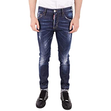DSquared Men s Jeans Dark Denim 38 - - 44  Amazon.co.uk  Clothing 6e951b741362