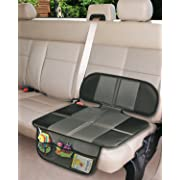 Car Seat Protector, Extra Storage Pocket Thickest Padding Protection for Child & Baby Cars Seats, Dog Mat, Non Slip and Waterproof Protects Automotive Vehicle Upholstery