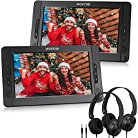 """WONNIE 10.5"""" Dual Portable DVD Player for Car, Headrest Kids CD Players with Two… photo"""