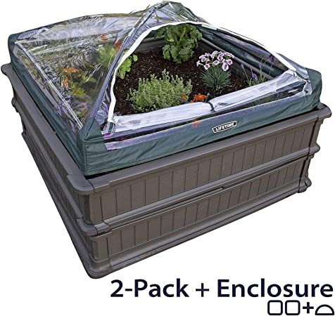 Lifetime 60053 Raised Garden Bed Kit, 2 Beds and 1 Early Start Vinyl on raised gardens for handicapped, water garden designs, trellis designs, xeriscaping designs, knot garden designs, garden box designs, wheelchair garden bed designs, simple landscape designs, best small vegetable garden designs, raised planting beds, shade garden designs, small perennial garden designs, garden fence designs, rock garden designs, raised beds for gardens, raised bed shade gardens, small raised garden designs, garden enclosure designs, green wall designs, berry garden designs,