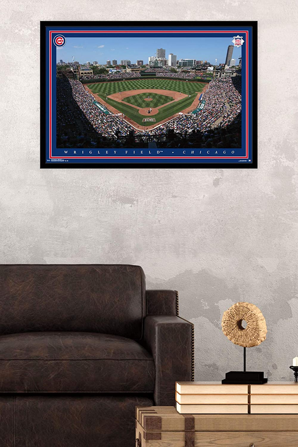 Trends International Chicago Cubs – Wrigley Field Wall Poster, 24.25 X 35.75 , Multi