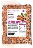 PINK SUN Whole Almonds 1kg (or 2kg, 3kg, 5kg) Raw Natural Spanish Nuts Unsalted Whole Foods with Skins On Kernals Unpasteurised Unroasted Gluten Free Vegetarian Vegan Bulk Buy 1000g