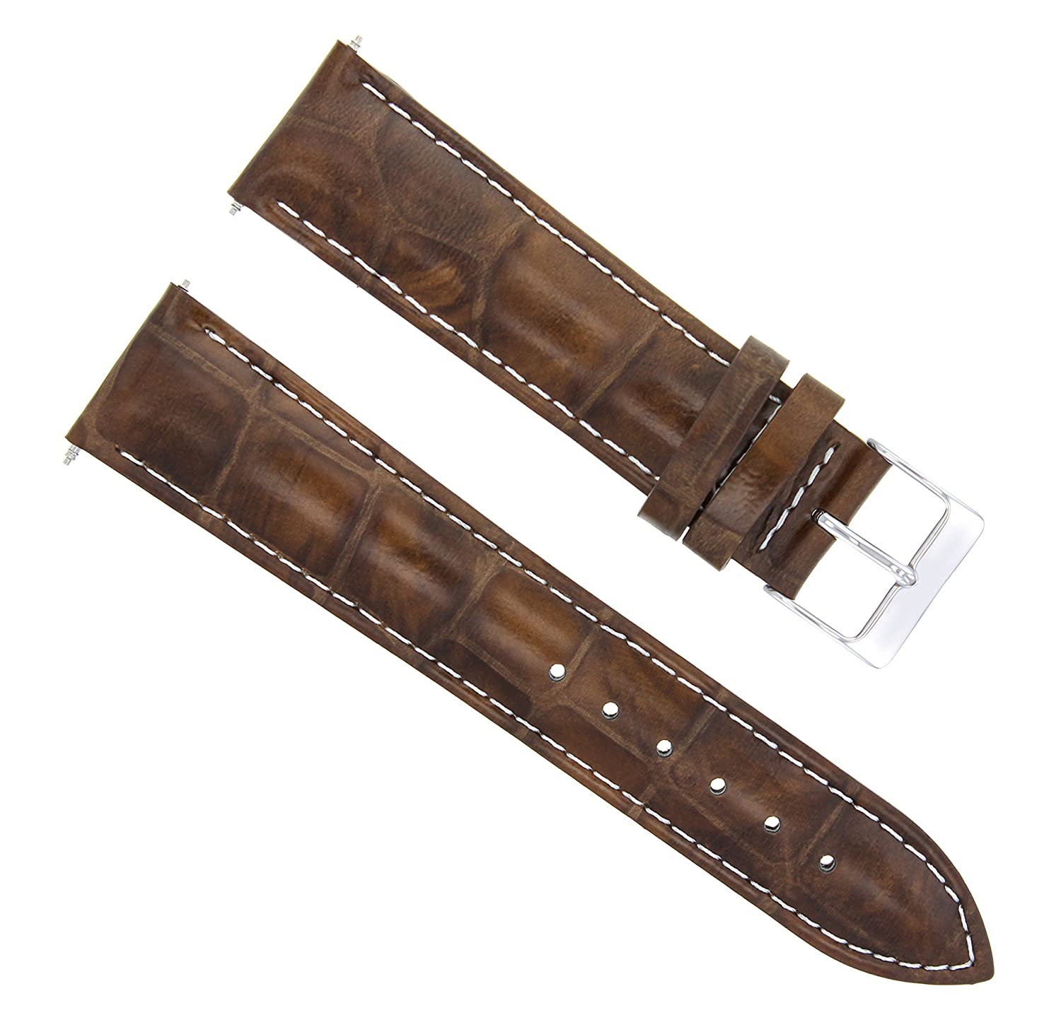 20 mm Leather Watch Band Strap for Citizen Eco Drive bl5250 – 02lライトブラウンWS  B07D6PS38K