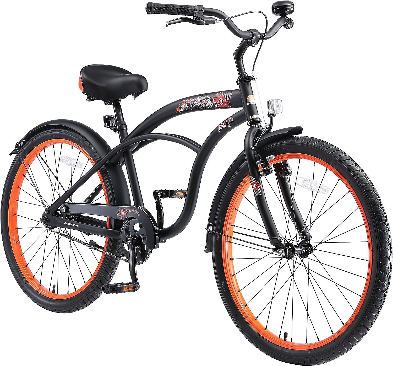 BIKESTAR Bicicleta Infantil para niños y niñas a Partir de 10 años   Bici 24 Pulgadas con Frenos   24