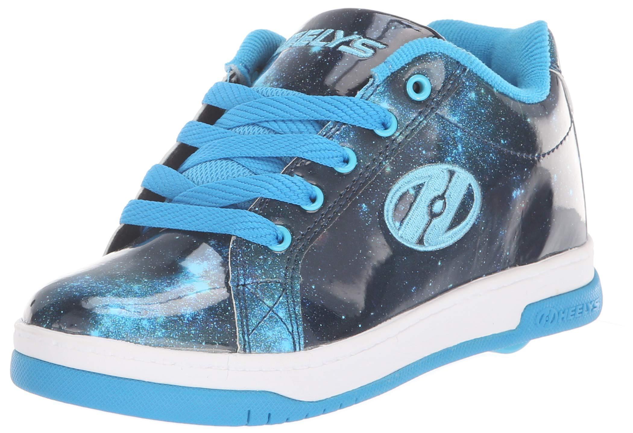 Heelys Girls' Split Tennis Shoe Blue/Galaxy 2 M US Big Kid by Heelys (Image #1)