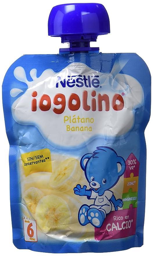 Nestlé iogolino - Bolsitas de Plátano - A Partir de 6 Meses - Pack de 8 x 90 g: Amazon.es: Alimentación y bebidas