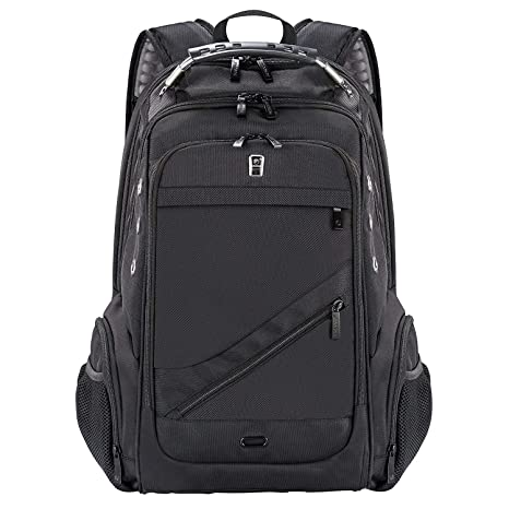 518a1f94d Travel Laptop Backpack, Business Large Rucksack with USB Charging Port,  Water Resistant School Bag