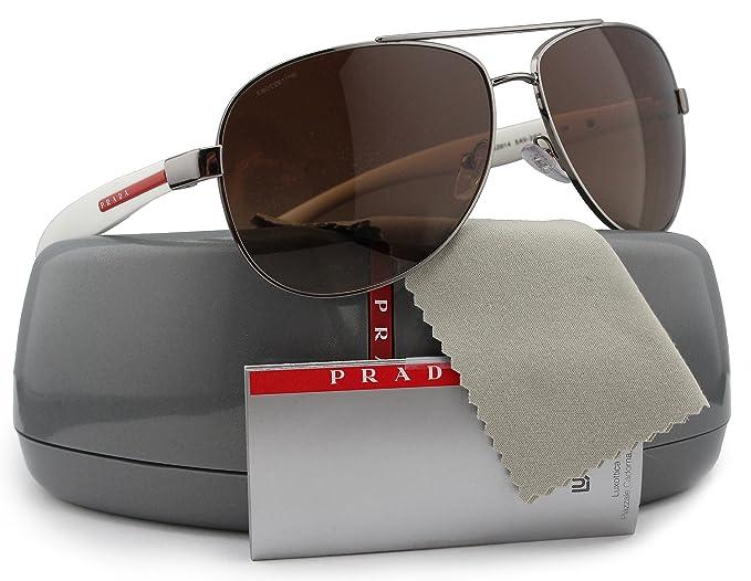 b170b24c0e0e Image Unavailable. Image not available for. Colour: Prada Linea Rossa  SPS53P Aviator Polarized Sunglasses ...