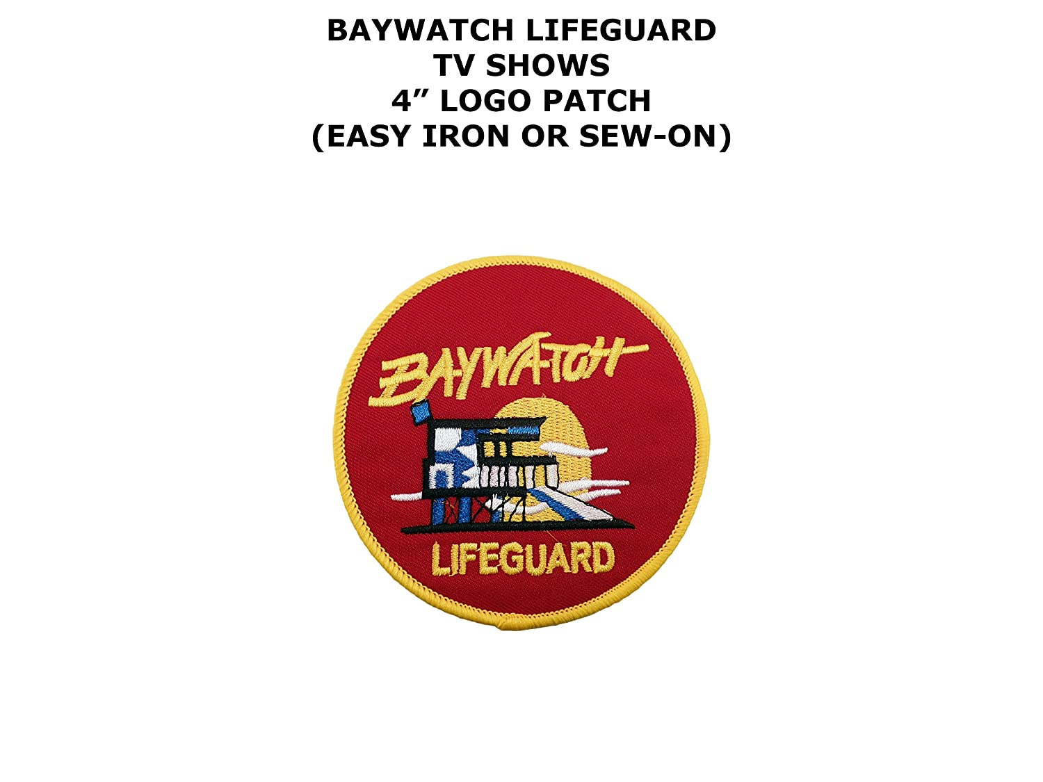 Baywatch Lifeguard Patch Set of 3 Patches