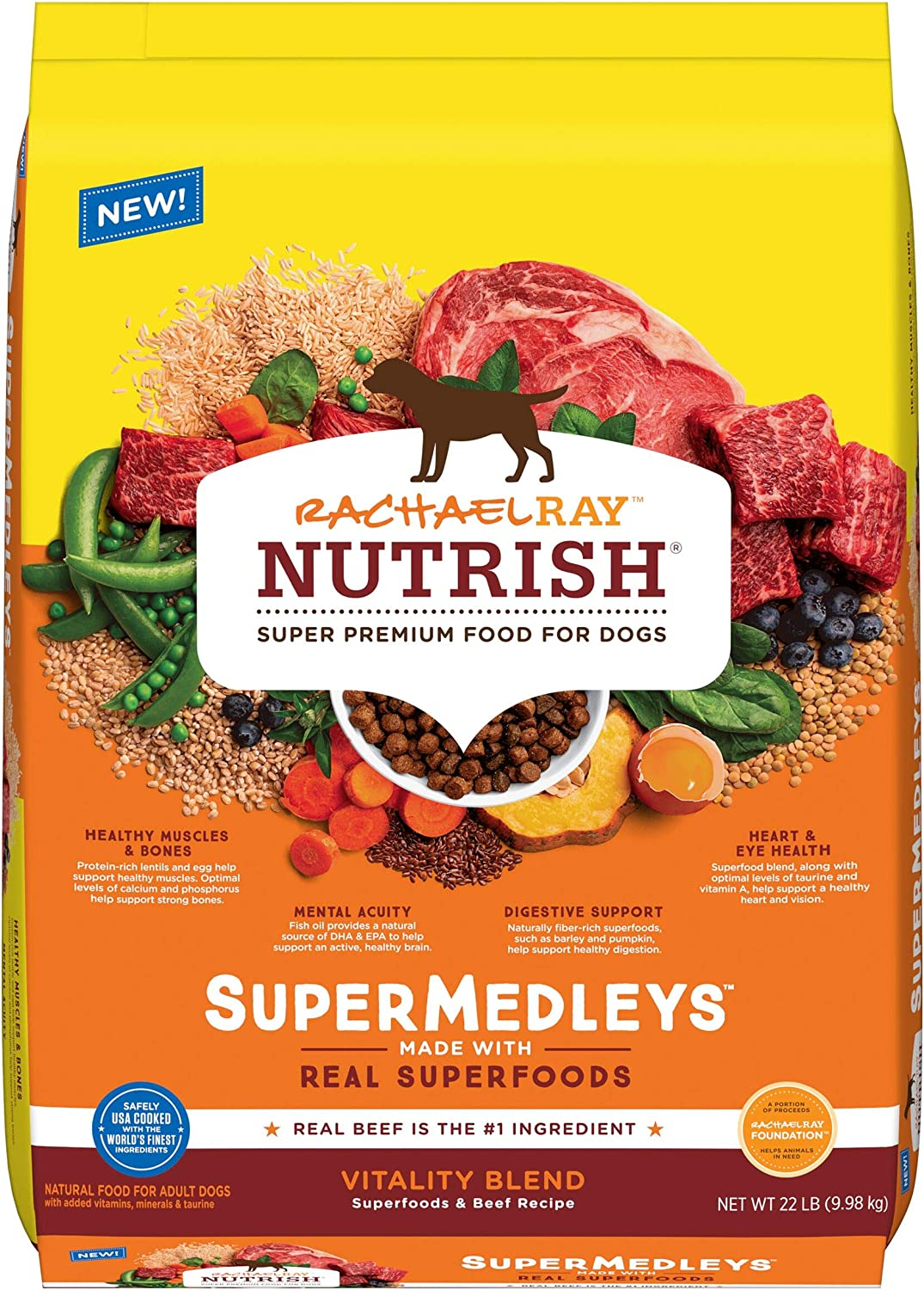 Rachael Ray Nutrish SuperMedleys Dry Dog Food with Whole Grains and SuperFoods