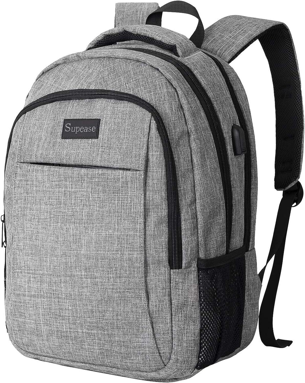 LENOHO Travel Laptop Backpack Business Laptops Backpack with USB Charging Port, College School Bag for Women & Men