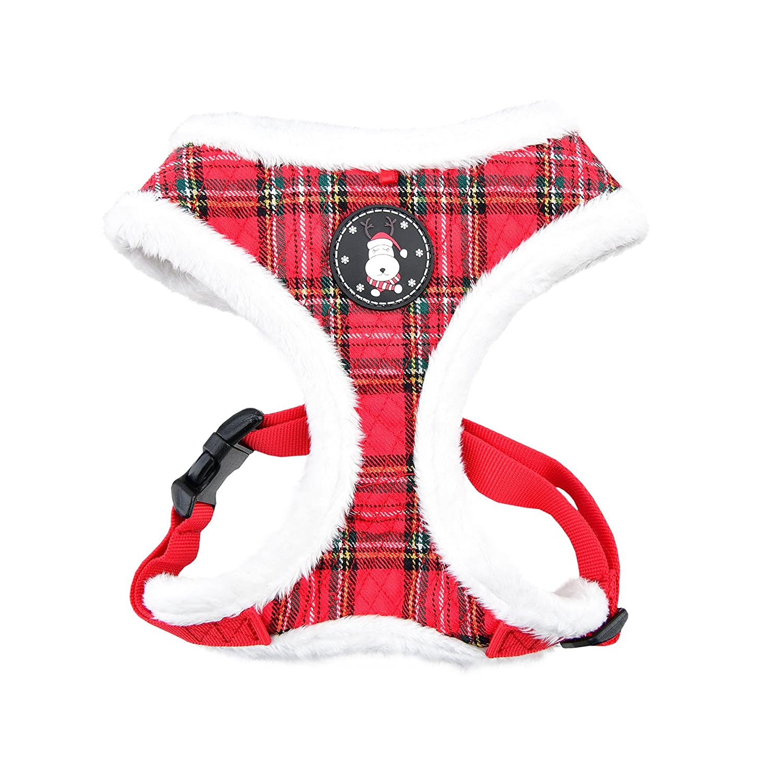 Checkered Red Medium Checkered Red Medium Puppia Blitzen Harness A, Medium, Checkered Red