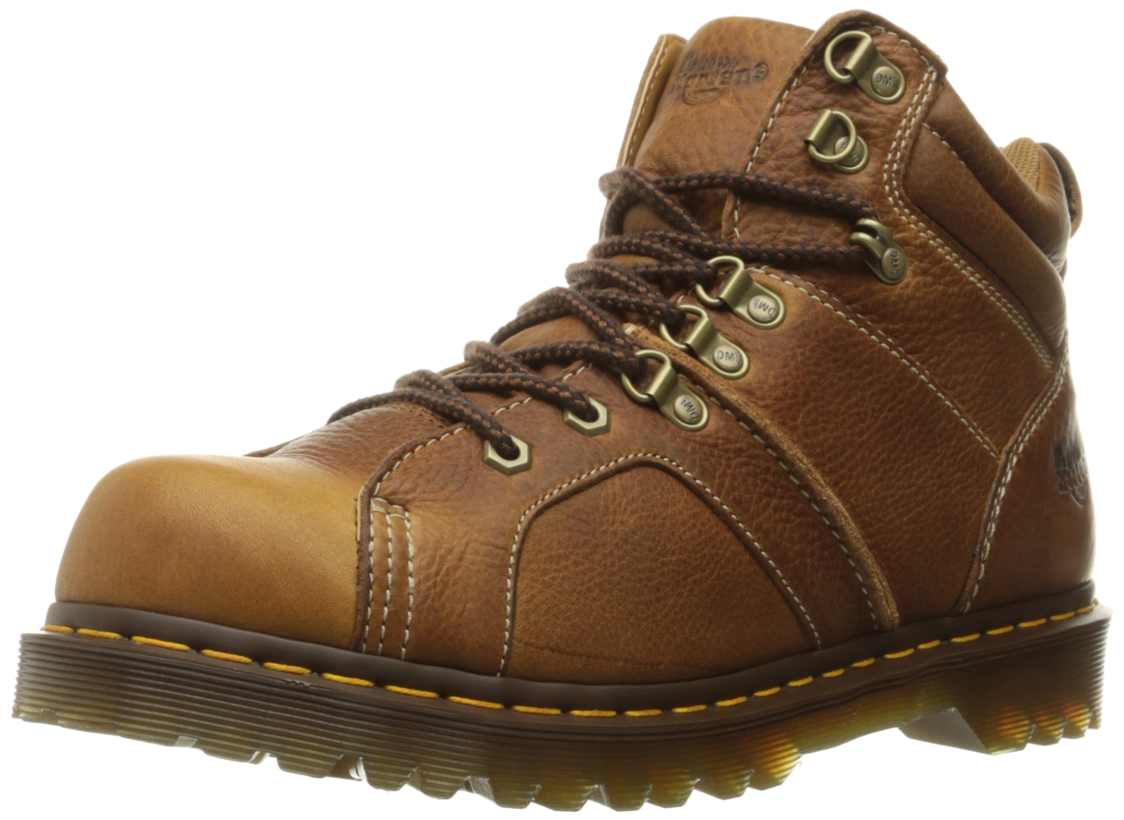 Dr. Martens Men's Fynn Western Boot, Tan, 11 UK/12 M US