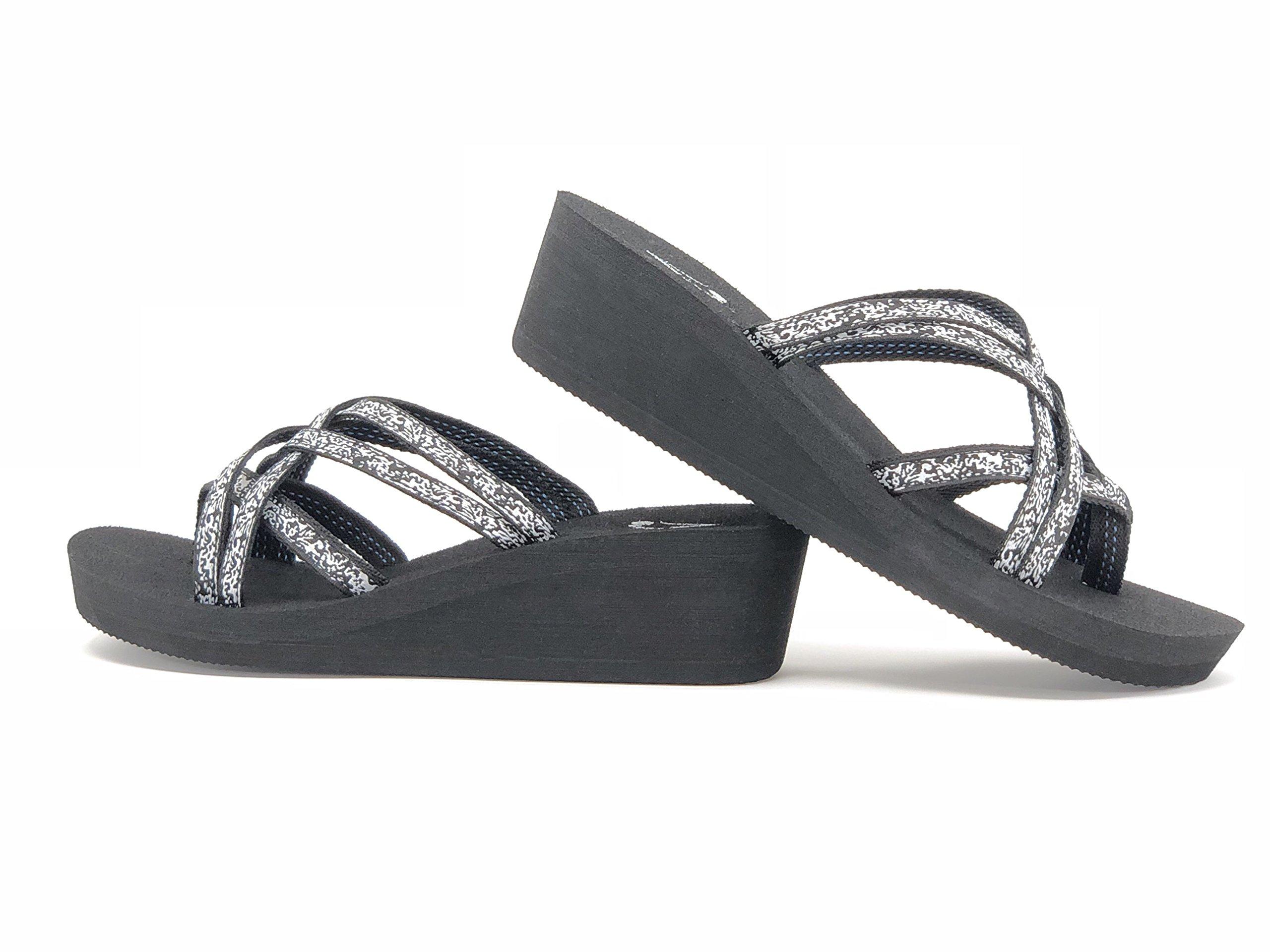 Viakix Wedge Flip Flops for Women – Comfortable, Stylish, Cute, Women's Strappy Sandal for Walking, Beach, Travel by Viakix (Image #7)