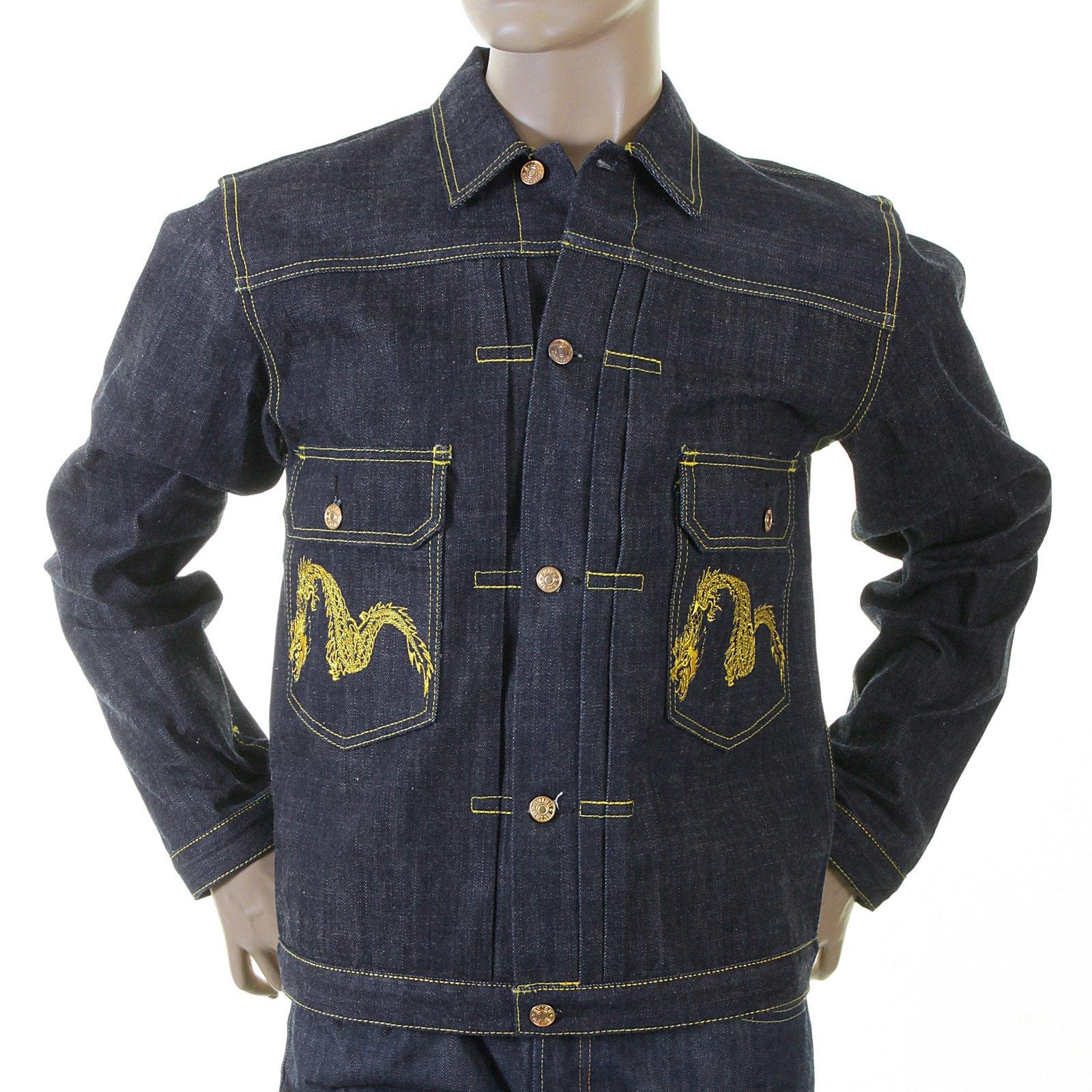 EVISU Heritage Non wash Denim Early Original Genuine Rare ES06HJK03 D80 no 1 Special Jacket EVIS1690 by EVISU