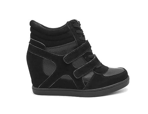 Modernas zapatillas con plataforma de dos materiales para mujer y niña: Amazon.es: Zapatos y complementos