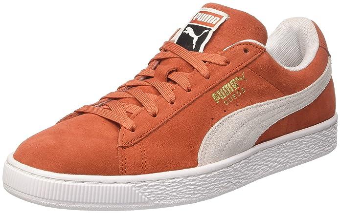 Puma Suede Classic Sneaker Damen Herren Unisex Rot (Burnt Ochre)