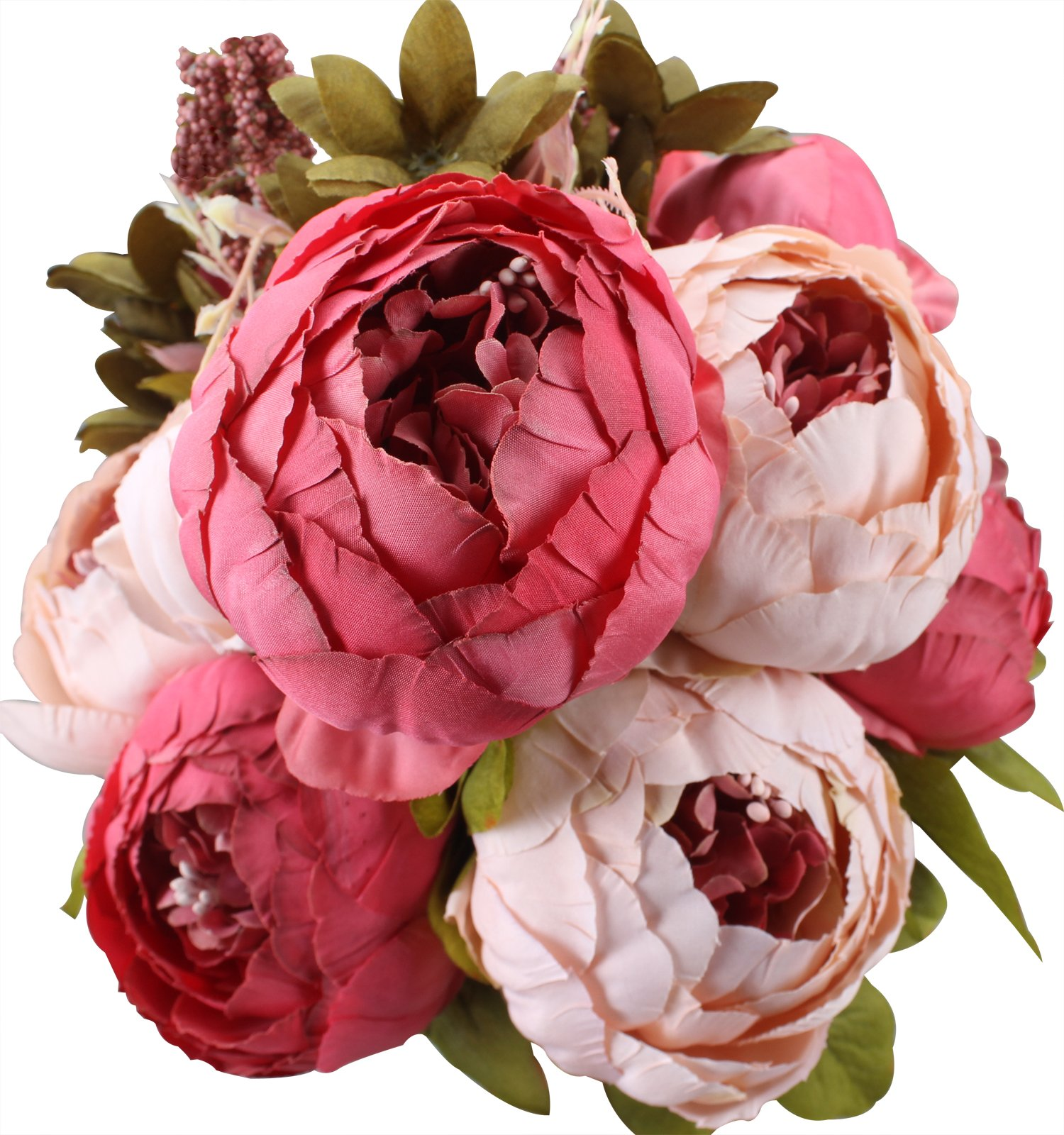 Fake Flowers Vintage Artificial Peony Silk Flowers Wedding Home