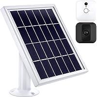 Panel Solar Compatible con Cámara de Seguridad Interior/Exterior Blink XT XT2 con un Montaje Ajustable, 12 Pies/ 3,6 m Cable, Suministro de Energía Continua con Panel Solar (Blanco)