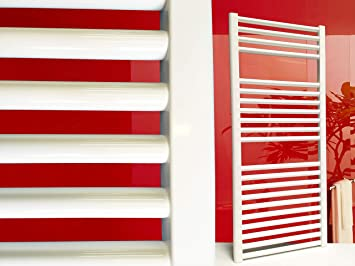 Radiador de baño SMYRNA Plus blanco 300 x 1500 mm. recto, toallero calentador de toallas: Amazon.es: Bricolaje y herramientas