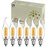 Keymit New C35T E12 Base 4W 400LM 2700K Dimmable Candelabra LED Bulb - UL-E492997 - Outdoor 6Pack