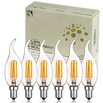 Keymit New C35T 4W UL-E492997 Chandelier LED Bulbs - Dimmable with ...