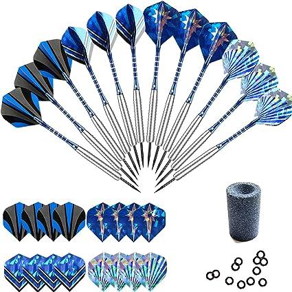 3Pcs 22g Professional Steel Tip Darts Aluminium Shaft Set W// Dart Flights DR~GQ