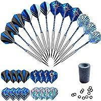 Gallop Chic Steel dartpijlen, 12 stuks stalen dartpijlen set voor dartboard, 22 gram professionele steeldarts met…