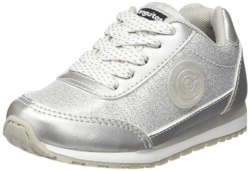 Conguitos Deportivos con Luz - Zapatillas de Deporte para niñas, Color Plateado, Talla 25: Amazon.es: Zapatos y complementos