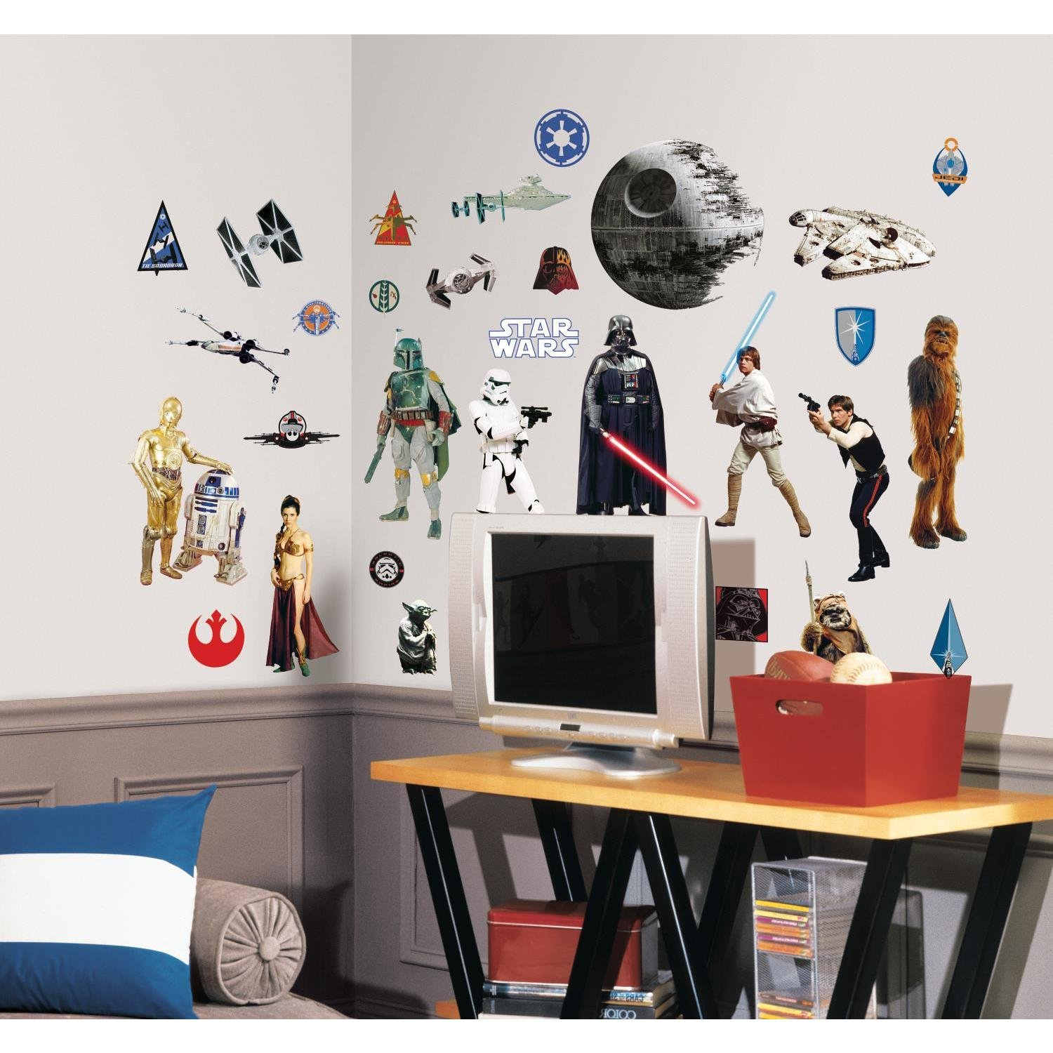 Roommates Rmk1586Scs Star Wars Classic Peel And Stick Wall Decals