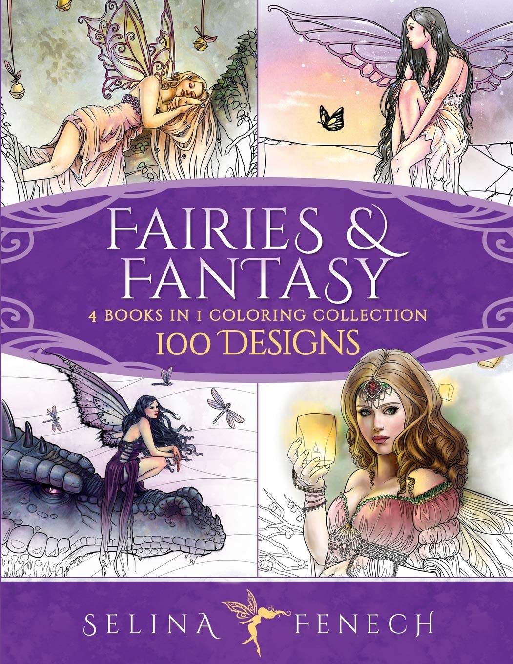 - Amazon.com: Fairies And Fantasy Coloring Collection: 100 Designs