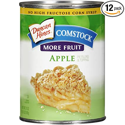 Comstock Caramel Apple Pie Filling or Topping 21-Ounce Packages Pack of 6