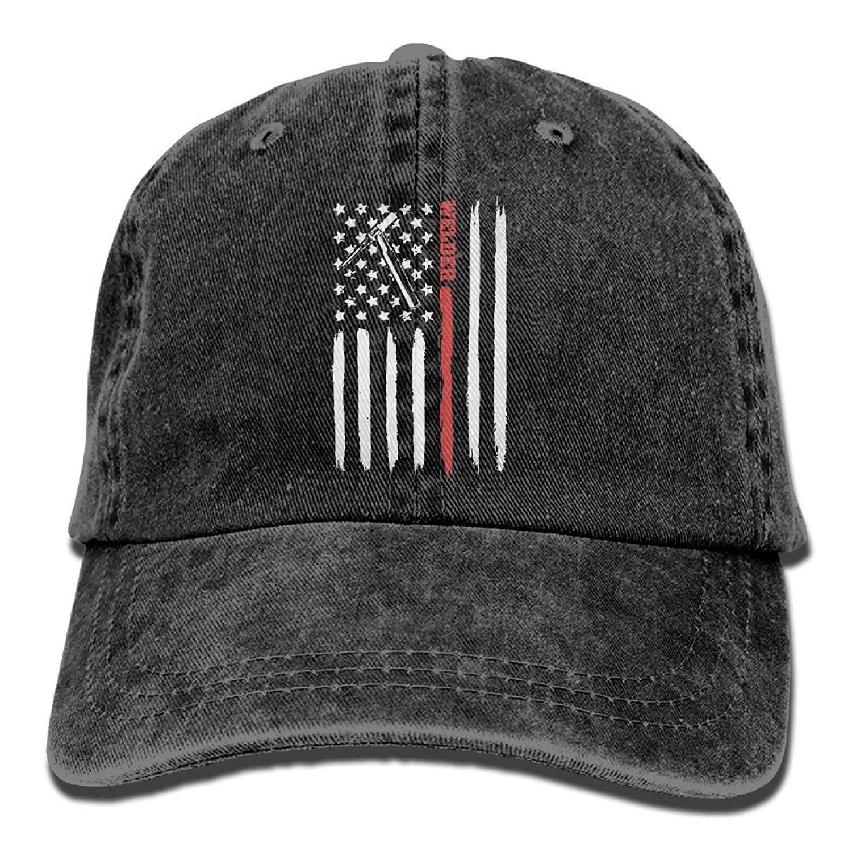 Gorra de béisbol & aelig; & euro; & aelig; & euro; & aelig; & euro; Soldador de Soldadura con Antorcha Tig con EE. UU. Bandera Americana Hombres Gorros ...