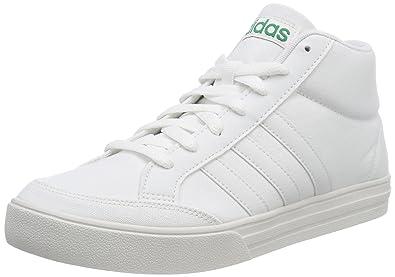 74672d06ec4b5f adidas Men's Vs Set Mid Tennis Shoes, White Ftwwht/Crywht/Bgreen, 10 ...
