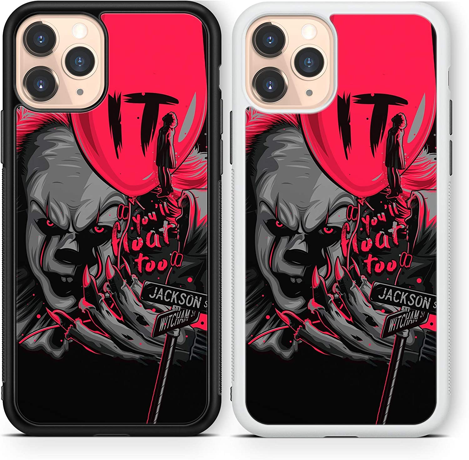 Halloween Scary case Compatible with iPhone 12 pro max Mini 11 XR X 7 8 SE Galaxy S20 Ultra S10 Note 10 20 TPU Cover SN193 (White, for iPhone 12 Pro max)