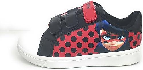 Trendstern Chaussons pour Fille Miraculous Ladybug avec Fermeture Velcro