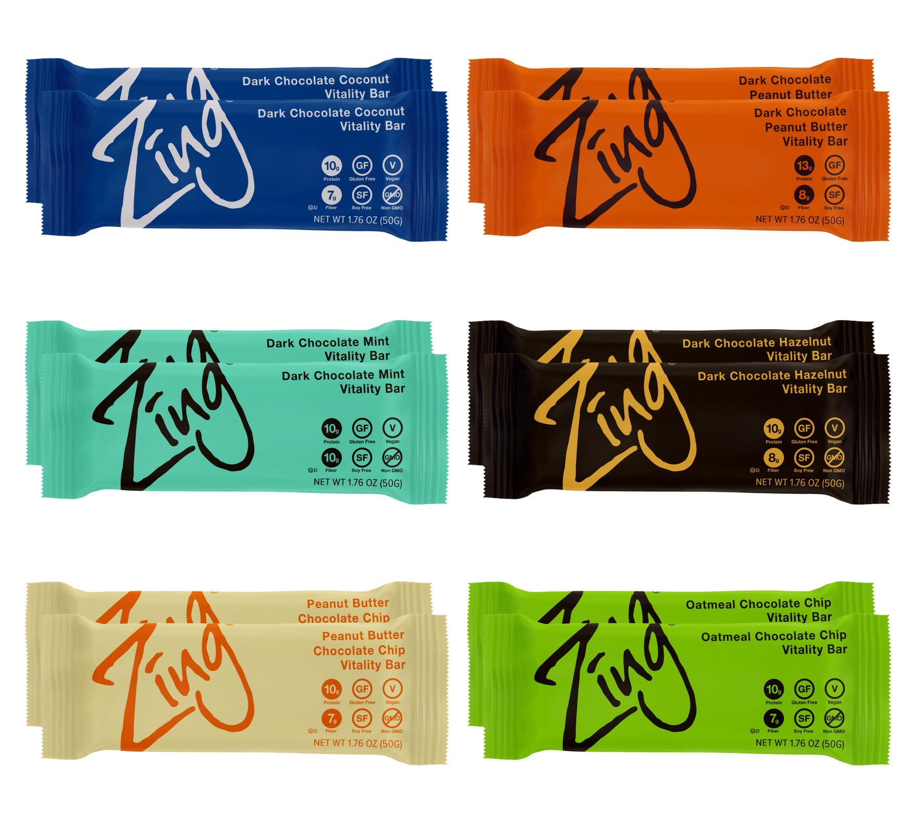 Zing Nutrition Bar, Variety Pack, (Pack of 12), Snack Bar for Optimum Energy, Gluten & Soy Free