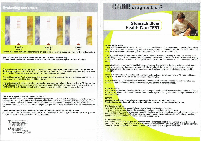 Helicobacter Pylori Test Kit Home Use H Pylori Testing Kit Self Test