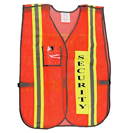 Orange Security Safety Vest with 2