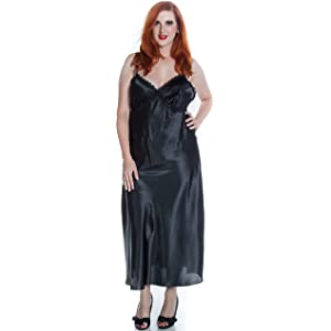 5715e75461c Vx Intimate Women s Super Plus Size Silky Nightgown With Venice Lace  6010xx